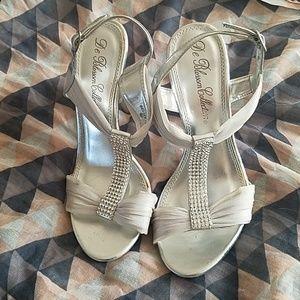 Rhinestone Silver Dress Heels